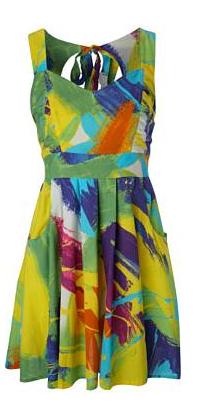 Vibrant print dress £28