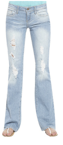H81 Frayed Flare Jean $29.90